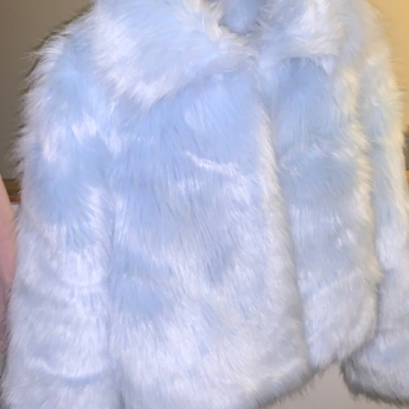 Jackets & Blazers - Baby blue fur coat